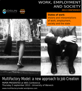 The MultiFactory model has been accepted at WES conference. Our first academic presentation of the model !
